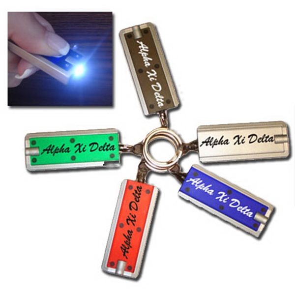 "Personalized 2"" premium LED key chain"
