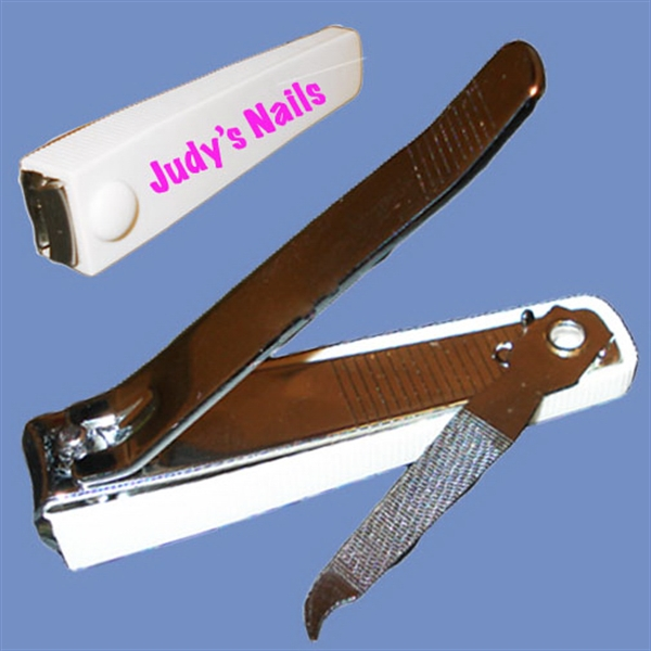 "Imprinted 3"" steel nail clippers"