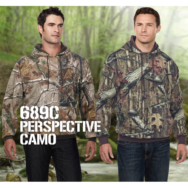 Personalized Perspective Camo Hooded Sweatshirt