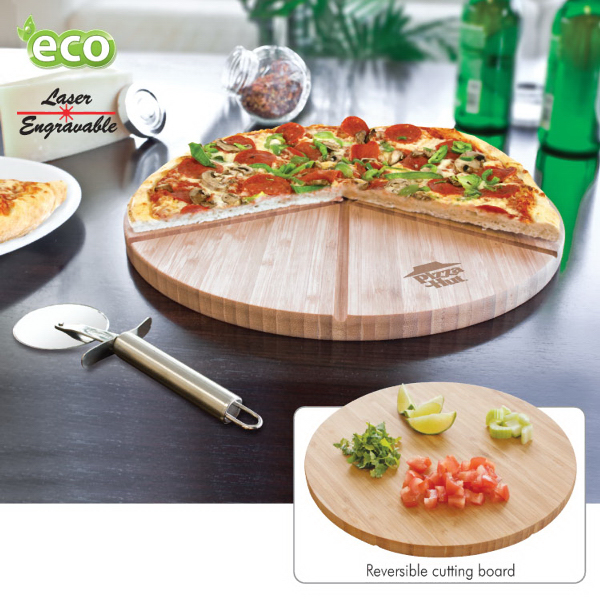 Personalized Gourmet Bamboo Pizza Set/Cutting Board