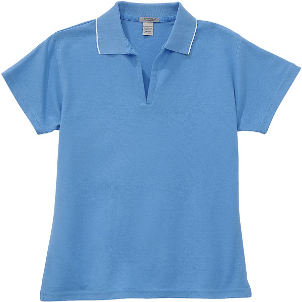 Personalized Ladies' Tipped Pique Polo