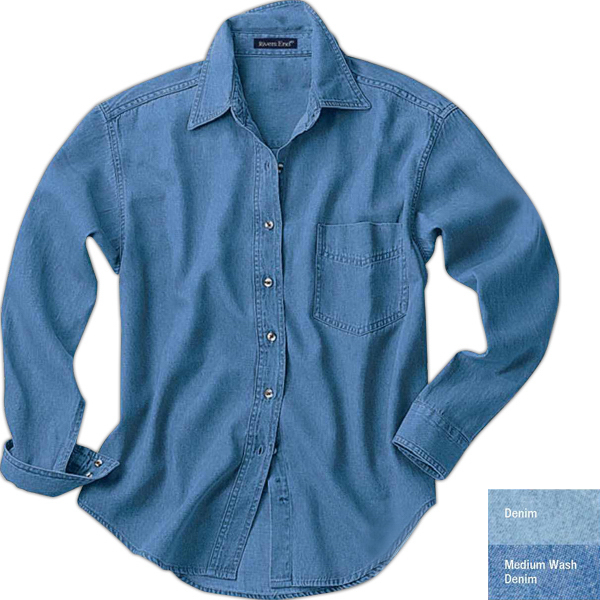 Promotional Ladies' Long-Sleeve Denim Shirt