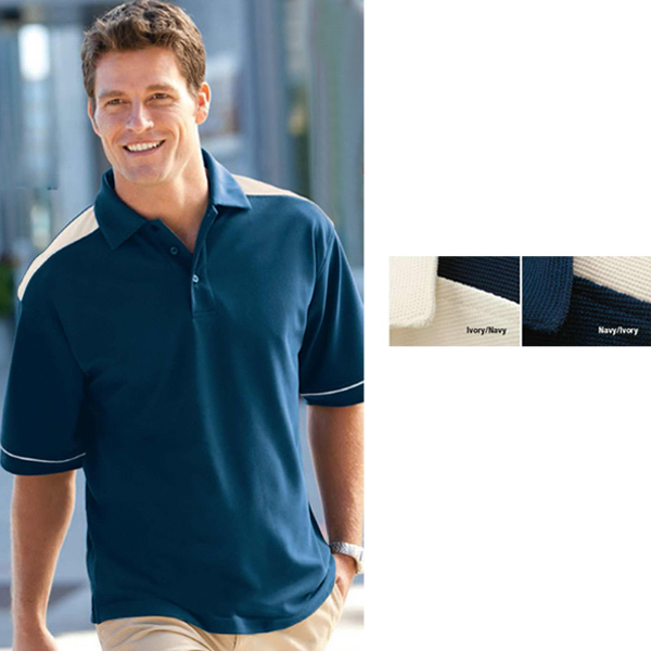 Printed Men's UPF 30+ Mini Texture Performance Polo