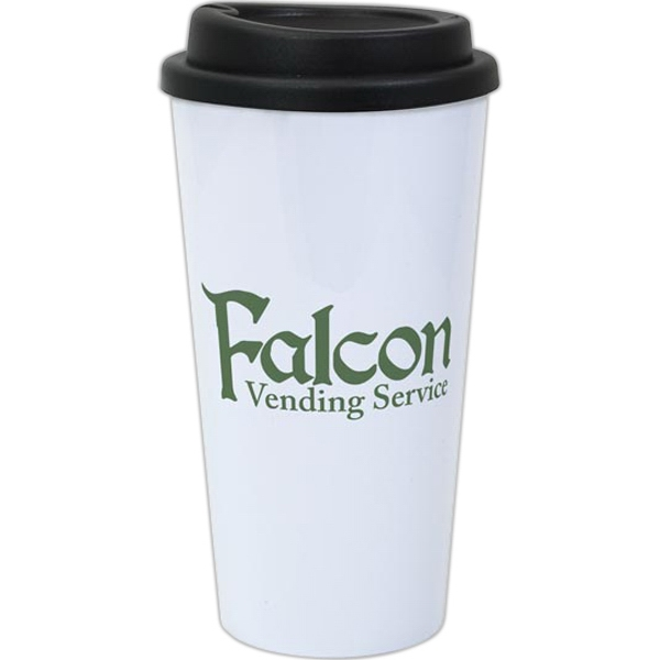 Promotional Double-Wall Plastic Travel Tumbler