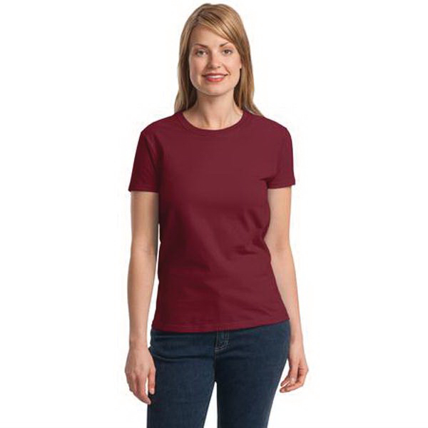 Imprinted Gildan® ladies' Ultra Cotton® 100% cotton t-shirt