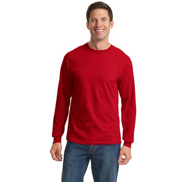 Customized Port & Company® long sleeve essential t-shirt