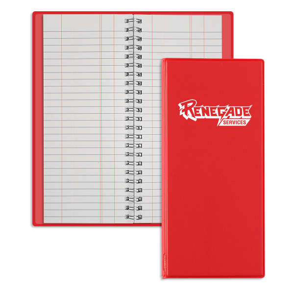 Printed Wire-O Tally Book