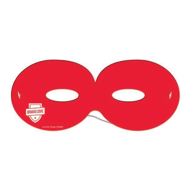Imprinted Round Mask with Elastic