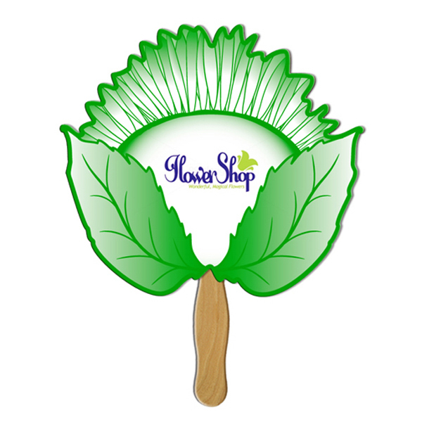 Imprinted Sunflower offset printed fan