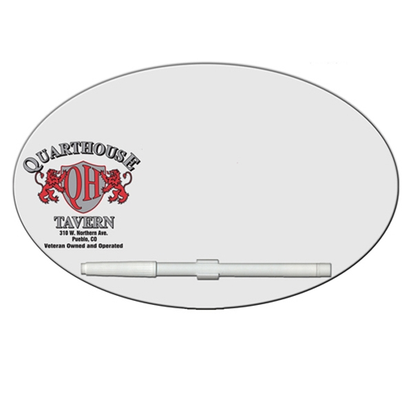 Printed Oval/Football Erasable Memo Board
