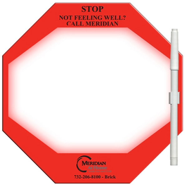 Promotional Stop Sign Erasable Memo Board