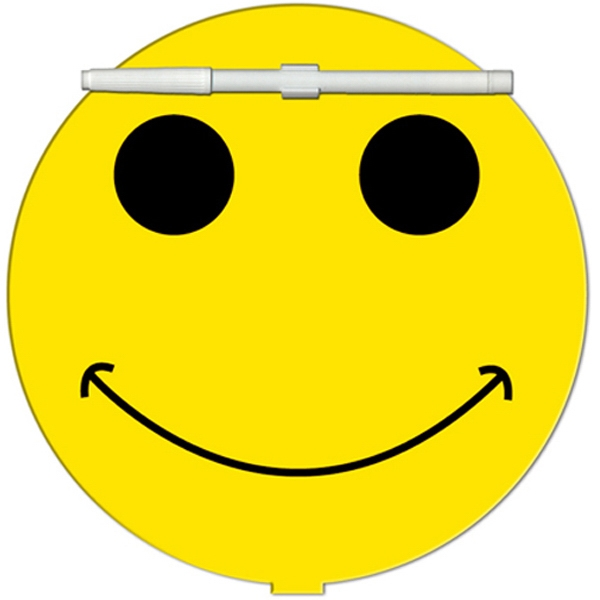 Printed Smiley Face Erasable Memo Board