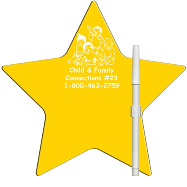 Custom Star Erasable Memo Board