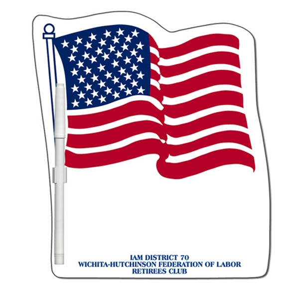 Personalized Flag Erasable Memo Board