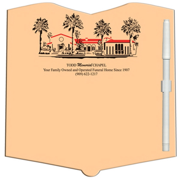 Promotional Open Book Erasable Memo Board