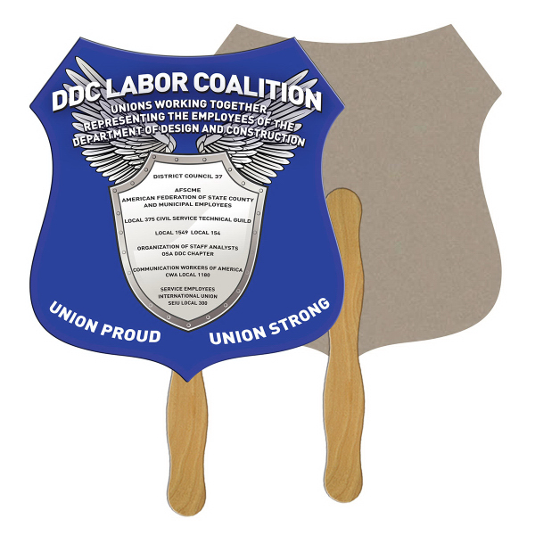 Promotional Crest recycled fan