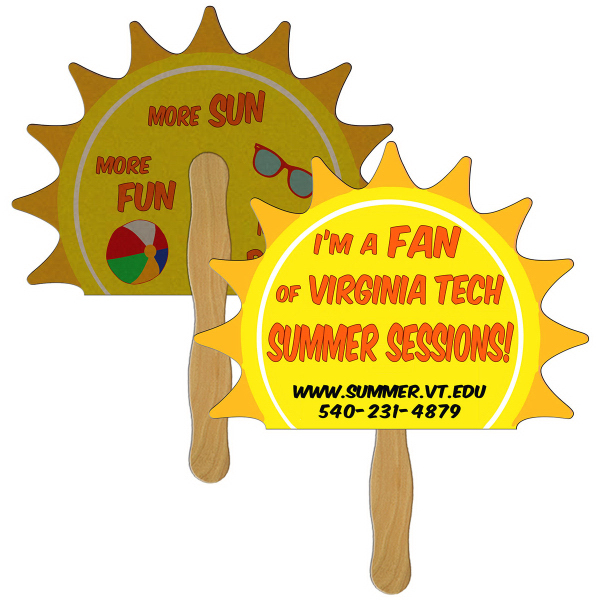 Imprinted Sun recycled fan