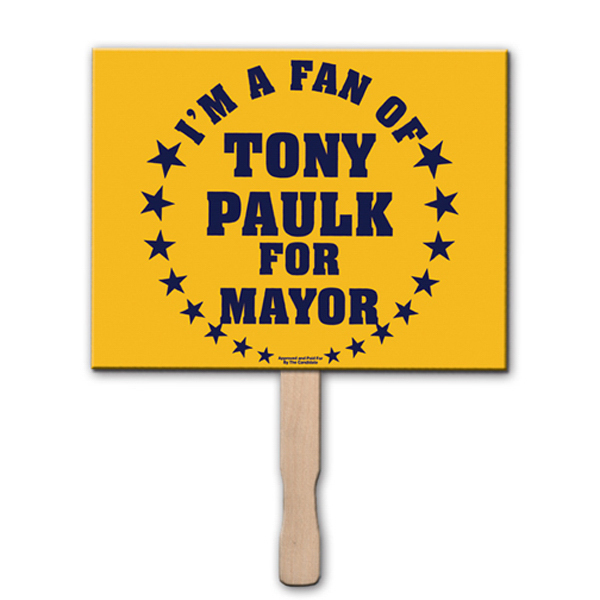 Promotional Rectangle rally sign