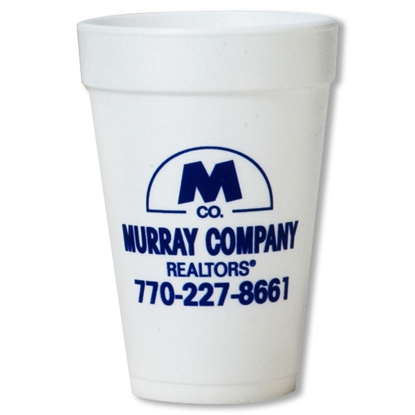 Imprinted White styrofoam tumbler - 16 oz