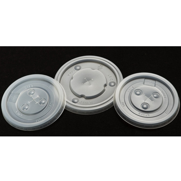 Imprinted Disposable translucent lid
