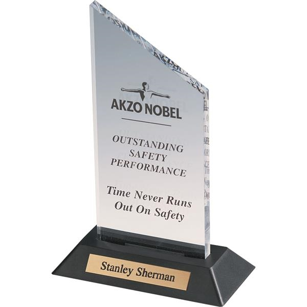 Imprinted Clear Acrylic Award with Plate