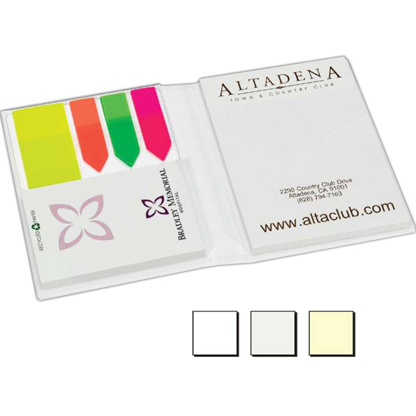 Personalized Hard Cover Noteholder & Adhesive Notepad