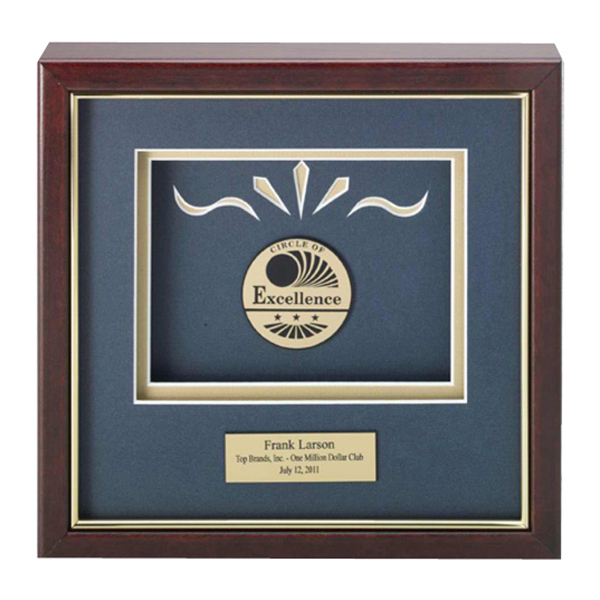 Custom Gold Medallex Framed Medallion Award