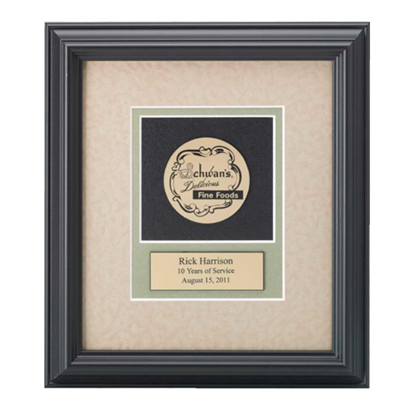 Imprinted Gold Medallex Framed Medallion Award