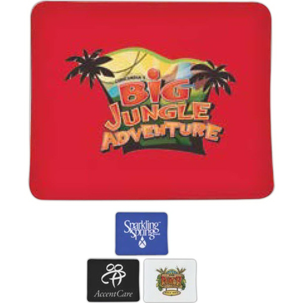 Imprinted 1/8 Rubber Backed Mousepad