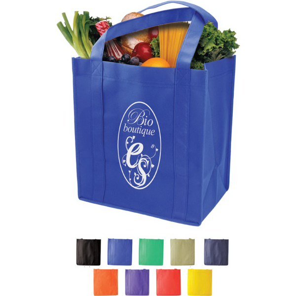 Promotional Grocery Tote with Reinforced Base
