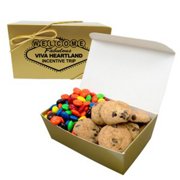 Printed 2 Way Treasure Chest/Chocolate Chip Mini Cookies & M&M's (R)