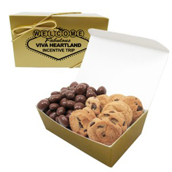 Personalized 2 Way Treasure Chest/Chocolate Raisins/Chocolate Chip Cookie