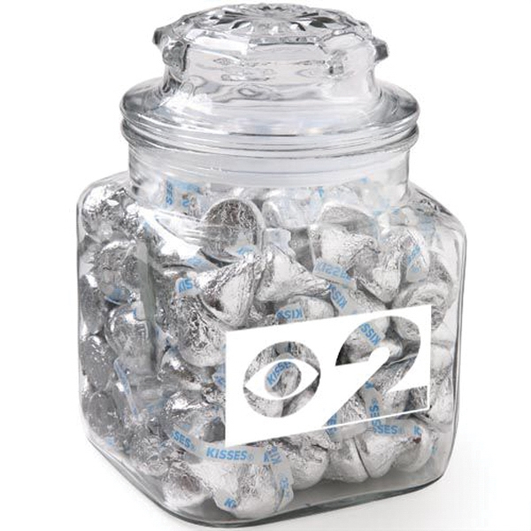 Promotional Classic Glass Apothecary Jar / Hershey's Kisses (R)
