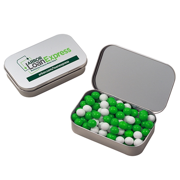 Promotional Large Hinged Tin with Sixlets (R)
