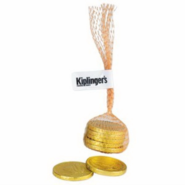 Personalized Mesh Bag with Gold Coins (5)