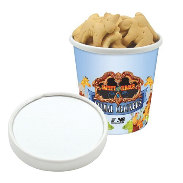 Personalized Pint Size Snack Tub / Animal Crackers