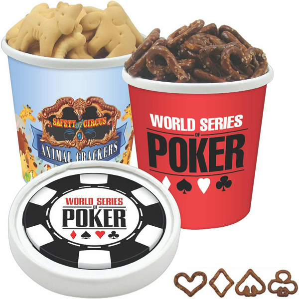 Printed Pint Size Snack Tub / Poker Pretzels
