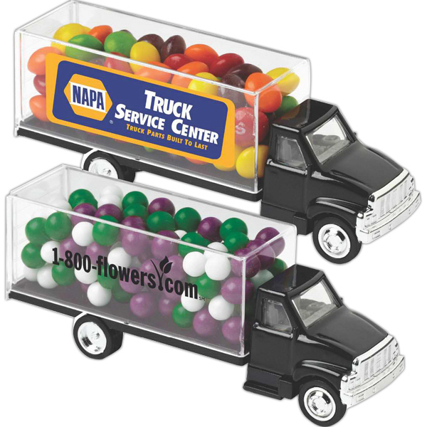 Personalized Box Truck Container / White Mints