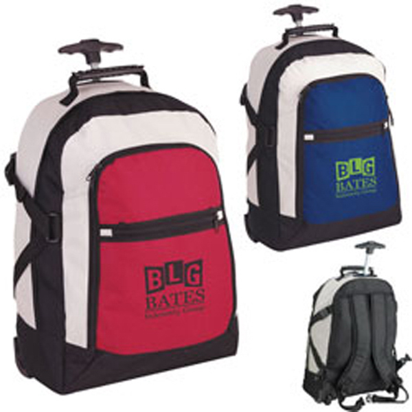 Promotional Tri-Color Rolling Rucksack
