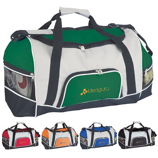 Imprinted Tri-Pocket Sport Duffel