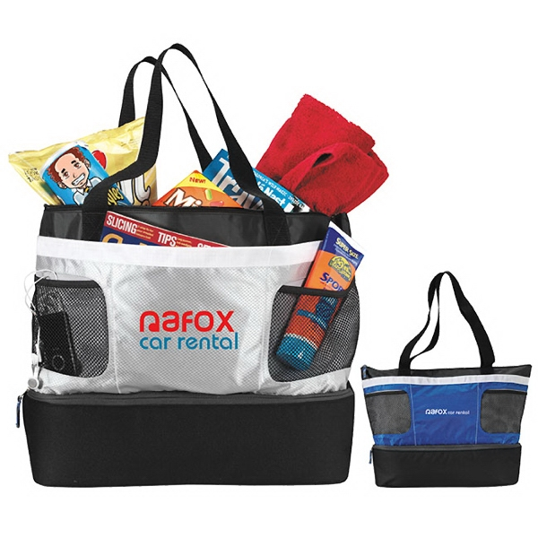 Personalized Double Decker Cooler Tote