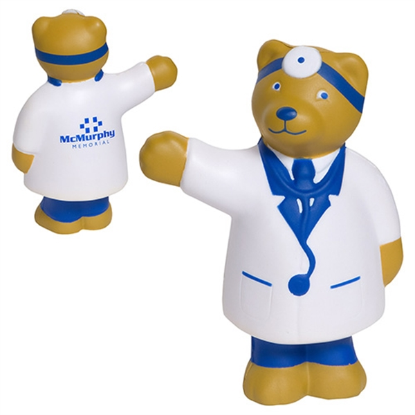 Imprinted Doctor Bear Stress Reliever