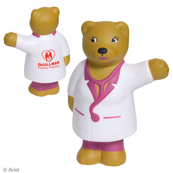 Printed Nurse Bear Stress reliever