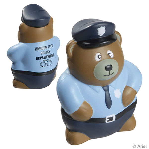 Custom Police Bear Stress Reliever