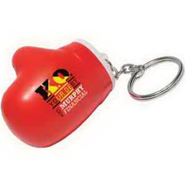 Personalized Boxing Glove Key Chain Stress Reliever