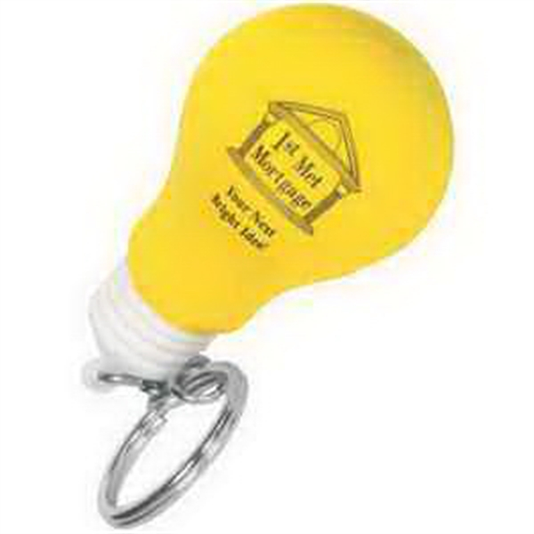Printed Lightbulb Key Chain Stress reliever