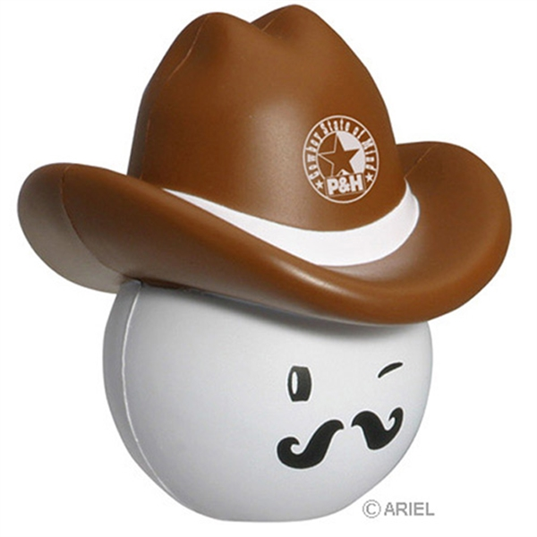 Promotional Cowboy Mad Cap Stress Reliever