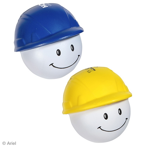 Imprinted Hard Hat Mad Cap Stress Reliever