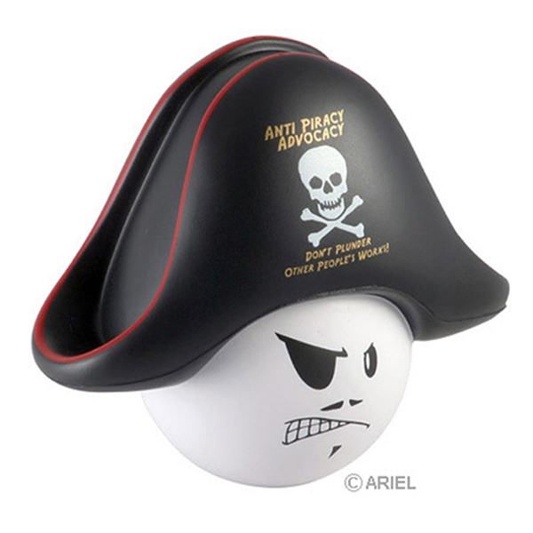 Personalized Pirate Mad Cap Stress Reliever