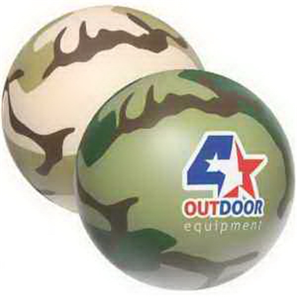 Promotional Camouflage Stress Ball Stress Reliever